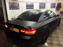 BMW-320-convertible-Matte-Black-Wrapping