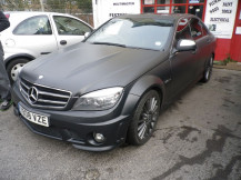 Mercedes-C630-Matt-Black-Wrap