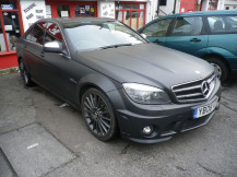 Mercedes-C630-Matt-Black-Wrapping
