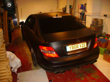 Mercedes-C630-Matte-Black-Vinyl-Wrap