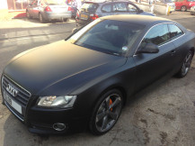 audi-A5-Matte-black-wrap-london