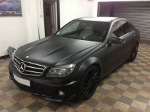 mercedes-c63-AMG-matte-black-wrapping