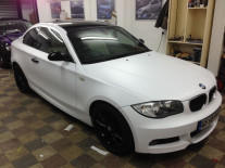 BMW-120D-MSport-Matte-White-Vinyl-Wrap