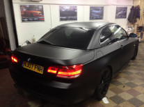 BMW-320-Matte-Black-Wrap-London