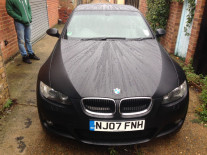 BMW-320-Wrapped-Matte-Black
