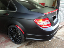 mercedes-cclass-matte-black-window-tints-matte-black-alloys