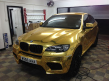 BMW-X6-Full-Wrap-Chrome-Gold