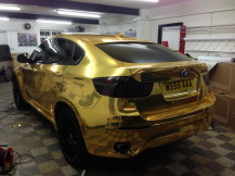 chrome-gold-bmw-x6