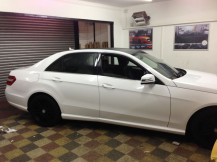 Mercedes-E250-Gloss-White-Wrapping-London