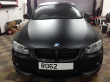 BMW-320-Matte-Black-wrap