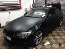BMW-320-Matte-Satin-Black-Wrapping