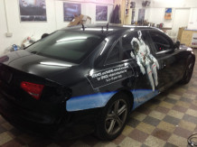 AudiA6-Digital-Print-Wrapping-in-progress