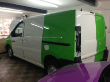 van-wrapping-in-progress