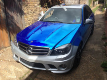 Chrome-Blue-Car-Wrapping-London