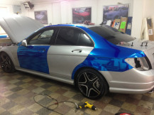 Chrome-Blue-Wrapping-C63AMG