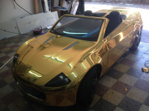 Chrome-Gold-Atom-Car