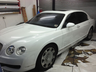 Bentley-flying-spur-Wrapping-White