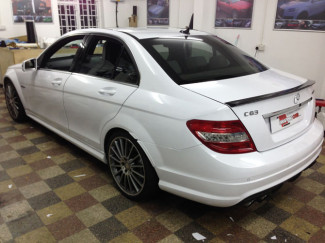 Mercedes-C63-Wrapped-Gloss-White