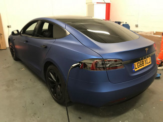 Tesla-Avery-Matt-Blue-Metallic-Wrap