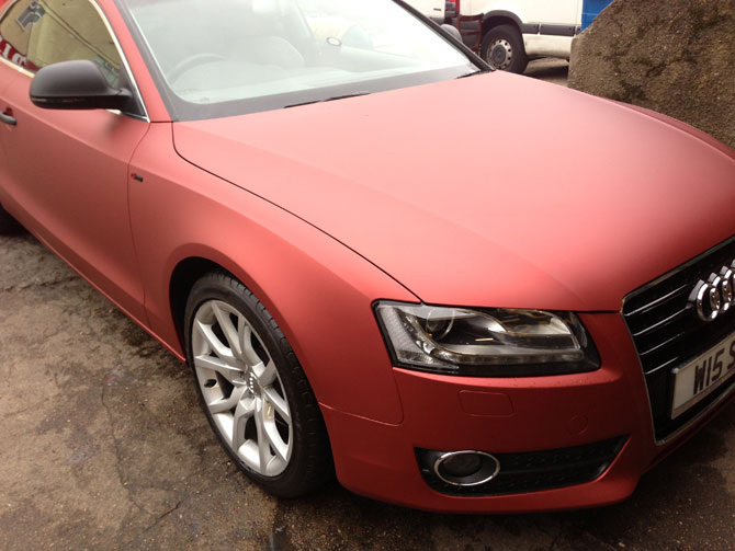 Matte Metallic Red Audi S5