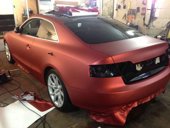 Matte Metallic Red Audi S5