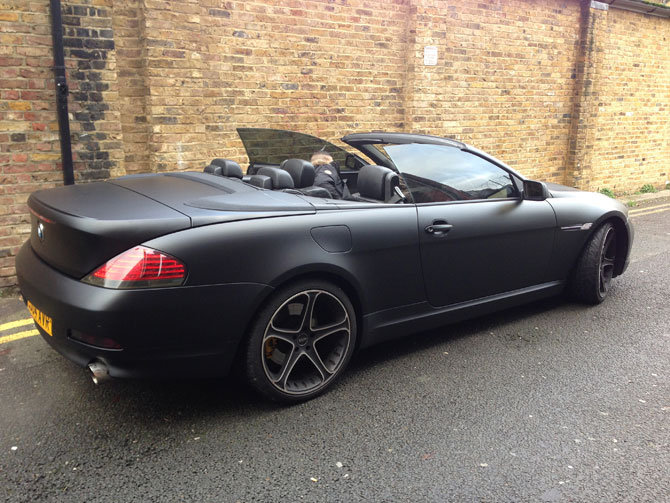 Matet Satin Black Wrap BMW 645