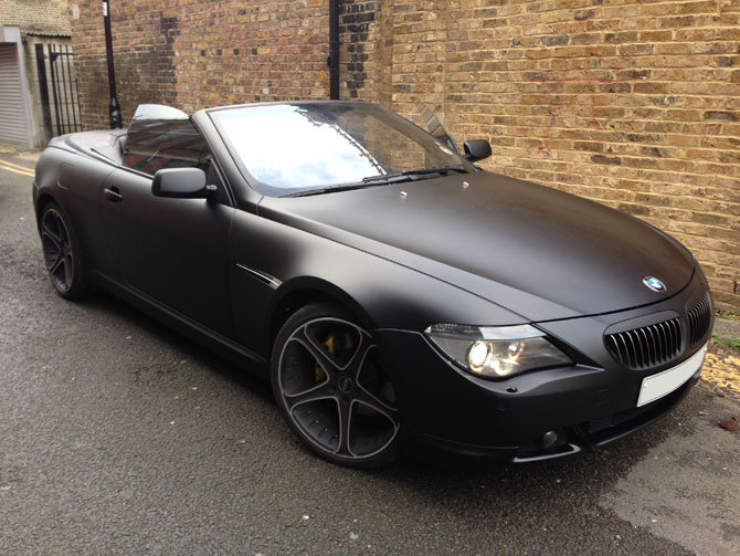 Bmw 645i Matte Satin Black Wrap From Gloss Black By