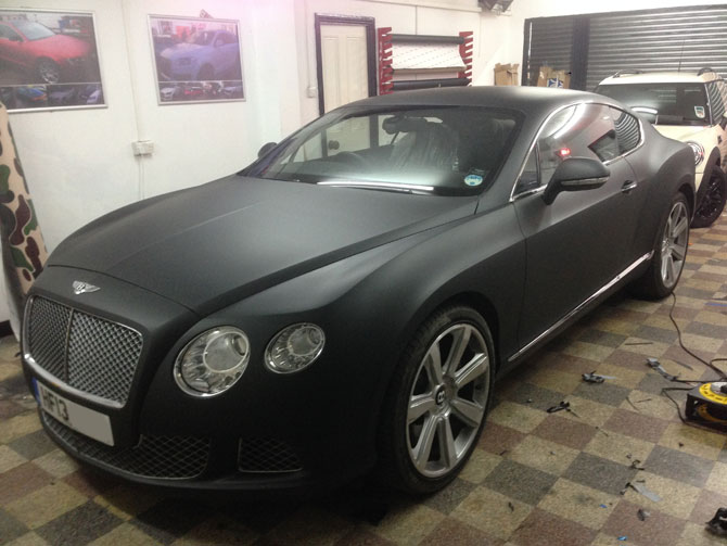 Matte Black Bentley Wrapping