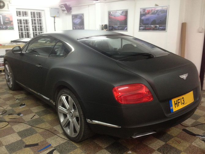 Matte Black Bentley Wrap London