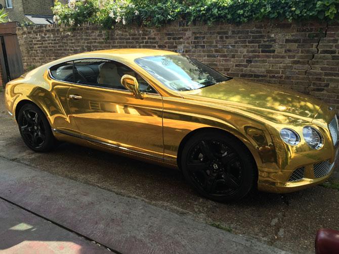 Bentley Gold Wrap