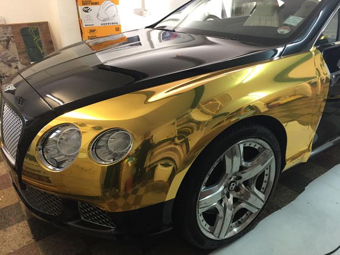Bentley chrome gold - Vinyl wrap birmingham al ...