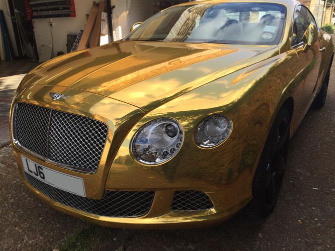 Chrome Gold Bentley
