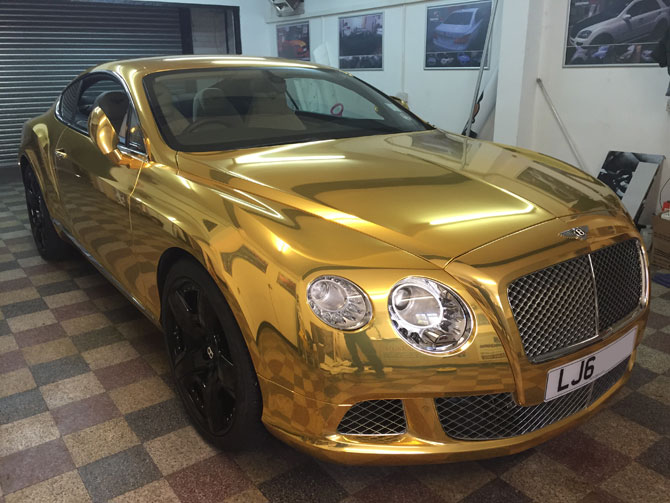 London Window Tinting >> bentley gold wrap