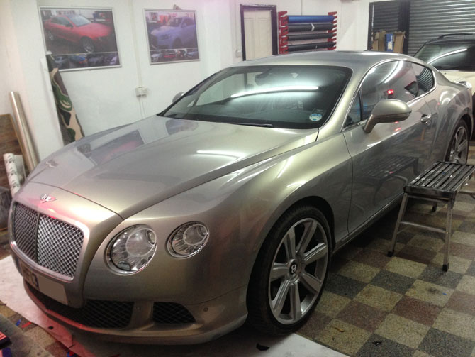 Bentley Gt Matte Black Wrap