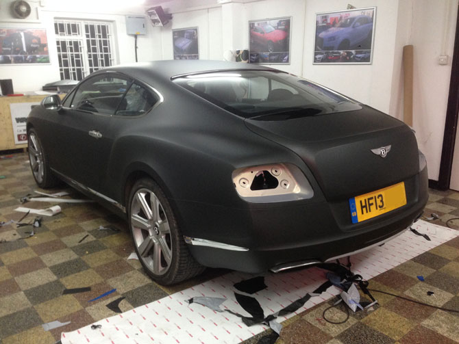 Bentley Continental Gt Wrapped Matte Black Wrapping Cars