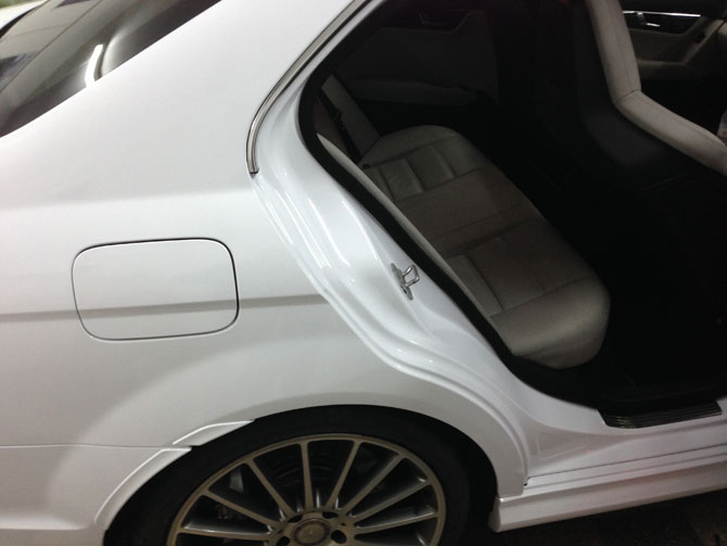 Door Shuts Wrapped Mercedes C63