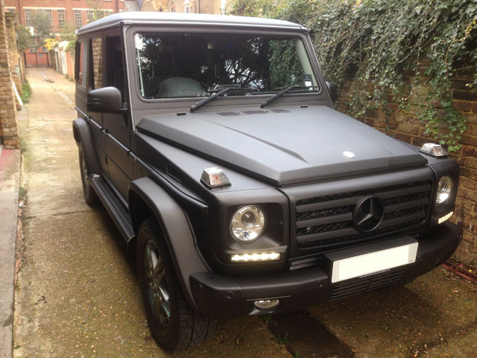 Matte Black Wrapping G Class