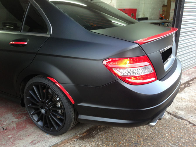 Mercedes Amg C Class Matte Black Wrap By Wrapping Cars