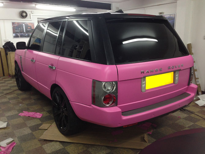 Pink Range Rover London