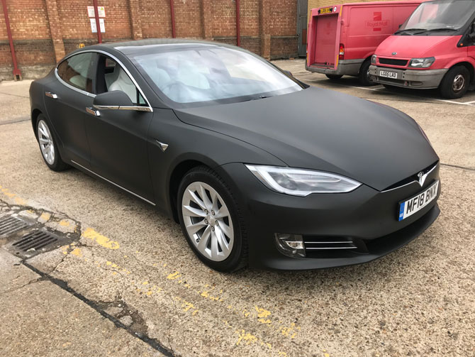 tesla wrapping London