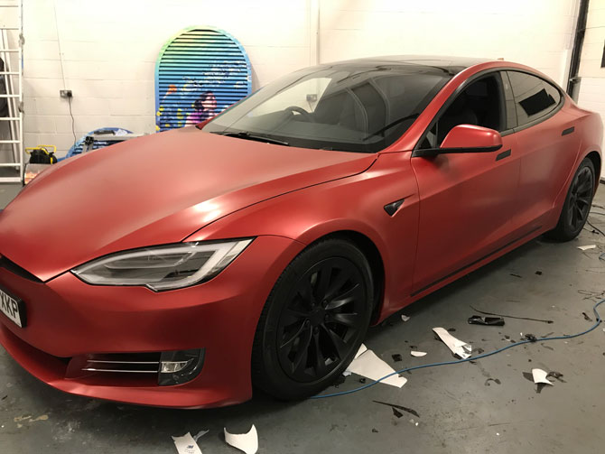 tesla 3M car wraps