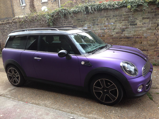 Matte purple mini - Vinyl wrap birmingham al ...