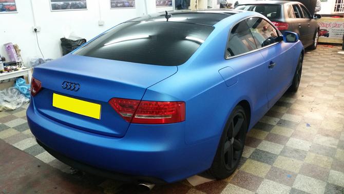 Matte Blue Car >> Audi S5 Matte Blue Aluminium Car Wrap At Wrapping Cars London