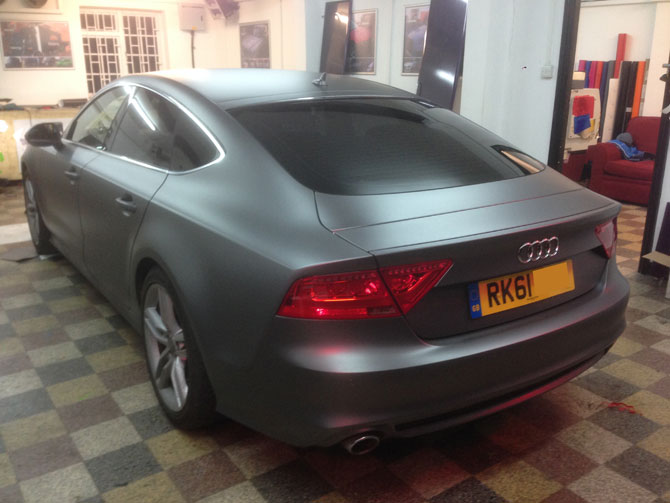 Matte Metallic Grey Wraps London