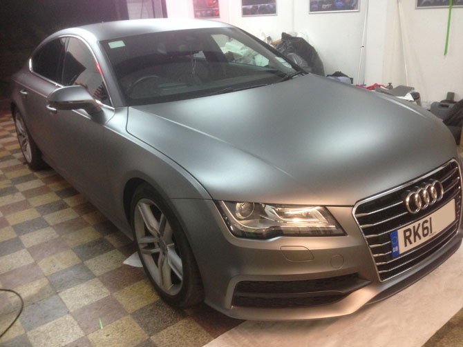 Audi A7 Vinyl Wrapped 3m Matte Dark Grey At Wrapping Cars