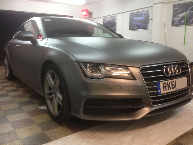 Audi A7 Wrapped Matte Grey Wrapping Cars London