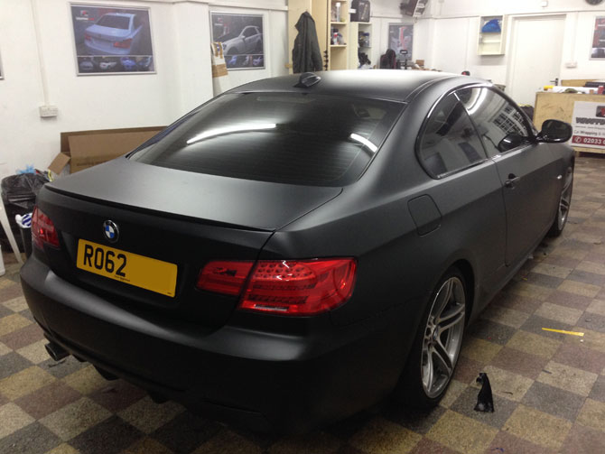 matte black wraps london