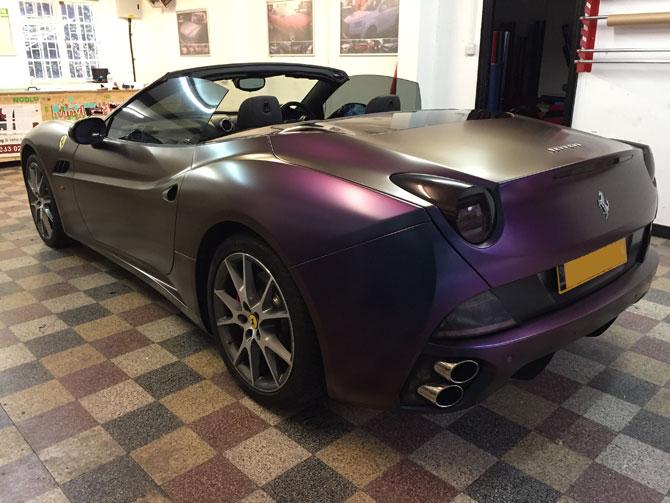Ferrari California Colour Shift Vinyl Wrap At Wrapping Cars London
