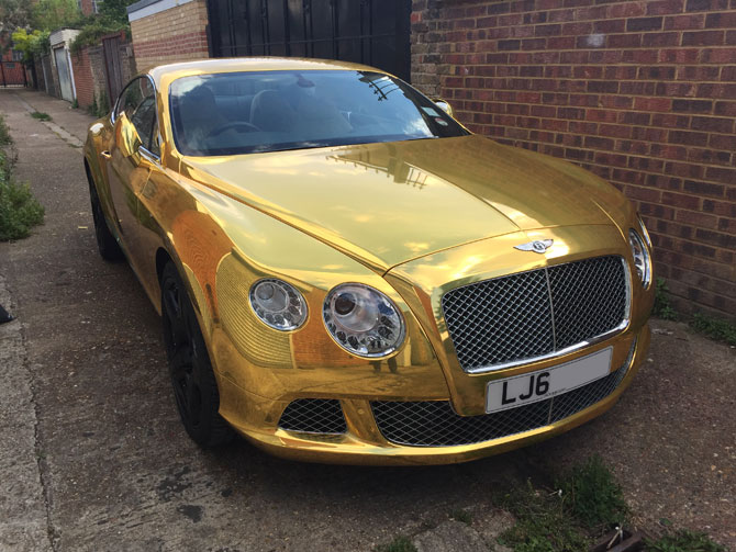 Bentley GT Gold Wrap