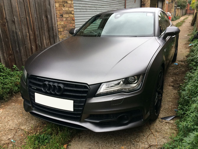 London Window Tinting >> audi a7 matte grey
